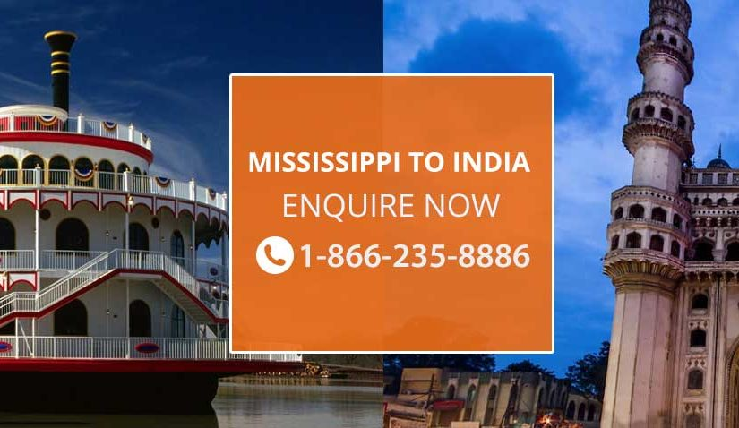 Flights from Mississippi to india